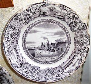Assiette Pompe près Paris 1844 Image